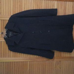 Fleet Street LTD Wool Dark Grey Coat Size Large